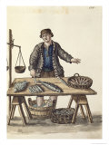 Fishmonger, Venetian Reproduction proc&#233;d&#233; gicl&#233;e par Jan van Grevenbroeck