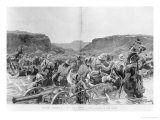 Yeomanry Surprised in a Drift While Pursuing a Boer Commando in Cape Colony Giclee Print by Richard Caton Woodville