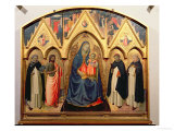 Virgin and Child, St. John the Baptist, St. Dominic, St. Peter the Martyr and St. Thomas Aquinas Giclee Print by Fra Angelico