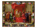 Peter IV, King of Aragon Being Visited by Guillaume-Raymond Moncada Giclee Print by Jan van Kessel
