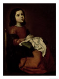 The Childhood of the Virgin, c.1660 Giclee Print by Francisco de Zurbarán