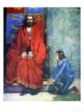 Boy Knelt Before the King and Stammered Out the Story, Our Island Story Marshall, c.1905 Giclee Print by A.s. Forrest
