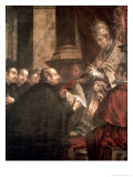 St. Ignatius Receiving the Papal Bull of the Foundation of the Company of Jesus Giclée-Druck von Juan de Valdes Leal