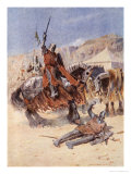 The Knights Meet in Conflict, The Talisman: A Tale of the Crusaders by Sir Walter Scott Reproduction proc&#233;d&#233; gicl&#233;e par Simon Harmon Vedder
