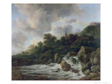 Waterfall Near a Village, c.1665-70 Giclee Print by Jacob Isaaksz. Or Isaacksz. Van Ruisdael