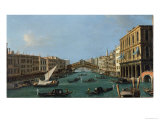 Grand Canal from the South, the Palazzo Foscari to the Right and the Rialto Bridge Beyond Giclee Print by  Canaletto
