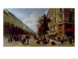 Siege of Paris. Queueing at the Door of a Grocery, 1870 Giclee Print by Jacques Guiaud