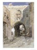 David's Strasse, Jerusalem, 1862 Giclee Print by Carl Friedrich Heinrich Werner