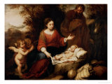 The Rest on the Flight Into Egypt Giclee Print by Bartolome Esteban Murillo