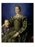 Portrait of Eleanor of Toledo and Her Son, Giovanni de Medici, c.1544-45 Giclée-tryk af Agnolo Bronzino