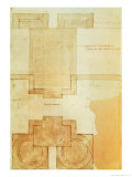 Plan of the Drum of the Cupola of the Church of St. Peter's Basilica Giclee Print by  Michelangelo Buonarroti