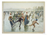 Skating, Published by L. Prang and Co Giclee Print by Henry Sandham