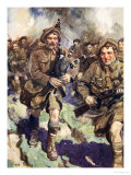 Gallant Piper Leading the Charge Giclee Print by Cyrus Cuneo
