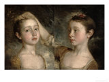 The Painter's Daughters Mary and Margaret, c.1758 Giclee Print by Thomas Gainsborough