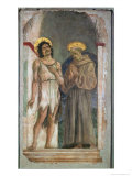 St. John the Baptist and St. Francis of Assisi Giclée-Druck von Domenico Veneziano
