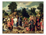 The Healing of the Blind Man of Jericho, Central Panel of Triptych, 1531 Giclee Print by Lucas van Leyden