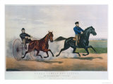 Flora Temple and Lancet Racing on the Centreville Course, 1856 Giclee Print by  Currier & Ives