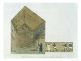 The Great Chamber in the Second Pyramid of Ghizeh, Discovered by Giovanni Belzoni Giclee Print by Giovanni Battista Belzoni