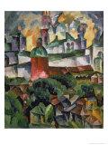 Landscape Near Troize-Sergiev, 1920 Giclee Print by Aristarkh Vasilievic Lentulov