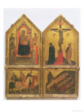 Madonna and Child with Saints, Crucifixion and the Legend of the Three Living and the Three Dead Gicle-tryk af Bernardo Daddi