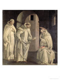 Life of St. Benedict: St. Benedict Blessing the Cup of Poison Which Shatters, c.1488 Giclee Print by Bartolomeo Di Giovanni 