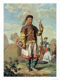 Chinese Officer, Engraved by the Artist Giclee Print by E. Karnejeff