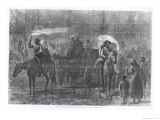 Negroes Escaping Out of Slavery Reproduction proc&#233;d&#233; gicl&#233;e par Alfred Rudolf Waud