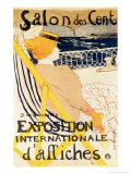 Poster Advertising the Exposition Internationale D'Affiches, Paris, c.1896 Lámina giclée por Henri de Toulouse-Lautrec