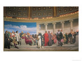 Hemicycle: Artists of All Ages, Detail of the Right Hand Side, 1836-41 Giclee Print by Hippolyte Delaroche