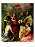 Disputation on the Trinity, c.1520 Giclée-tryk af Andrea del Sarto