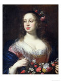 Portrait of Vittoria Della Rovere Dressed as Flora, c.1639 Giclee Print by Justus Sustermans