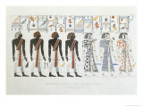 Illustrations of Hieroglyphics from Tombs of the Kings at Thebes, Belzoni, Engraved, Hullmandel Giclee Print by Giovanni Battista Belzoni