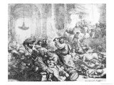 Christ Driving the Money Lenders from the Temple, 1635 Giclee Print by  Rembrandt van Rijn