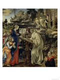The Vision of St. Bernard, c.1485-87 Giclee Print by Filippino Lippi