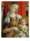 Madonna and Child, Detail from the Sant'Emidio Polyptych, 1473 Giclee Print by Carlo Crivelli