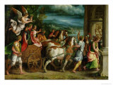 The Triumph of Titus and Vespasian, c.1537 Giclee Print by Giulio Romano