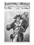76 Minuteman, from Harpers Weekly, Engraved by Speer, New York, c.1876 Giclee Print by George Willoughby Maynard