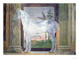 Sala Dei Cavalli, Grey Horse from the Stables of Ludovico Gonzaga III of Mantua, 1528 Giclee Print by Giulio Romano