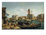 The Canal Grande and S. Geremia, Venice Giclee Print by Michele Marieschi