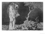 Riddle of Fear, Plate 2 of Proverbs, 1819-23, Pub. 1864 Giclee Print by Francisco de Goya