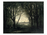 Landscape with a Lake, 1860-73 Giclee Print by Jean-Baptiste-Camille Corot