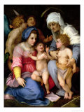 Holy Family with Angels, c.1515-16 Lmina gicle por Andrea del Sarto