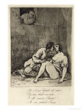 Two Lovers in a Courtyard, 1880's Giclee Print by Francisco de Goya