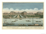 Royal Hospital at Chelsea and the Rotunda in Ranelaigh Gardens, Pub. by Robert Sayer, 1751 Giclee Print by Thomas Bowles