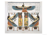 Mural from Tombs of the Kings at Thebes, Plates Illustrative of the Researches in Egypt and Nubia Giclée-Druck von J. Ricci