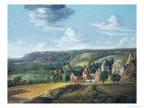 View of Potrel Manor, Near Dragey in Normandy Giclee Print by Jan The Elder Griffier