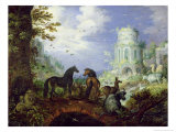 Orpheus Charming the Animals, 1626 Giclee Print by Roelandt Jacobsz. Savery