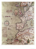 Catalan Atlas of Europe and North Africa, Presented to Charles V of France in 1381, 1375 Giclee Print by Abraham Cresques