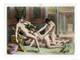 Ancient Times, Illustration of an Orgy, Plate 19 of De Figuris Veneris Giclee Print by Edouard-henri Avril