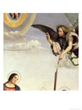 Annunciation and Saints, Detail of the Archangel Gabriel, 1500 Giclee Print by Francesco Francia
